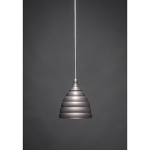 Brushed Nickel Stem Mini Pendant with Beehive Metal Shade