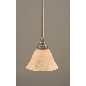 Brushed Nickel One-Light Mini Pendant with Italian Bubble Glass