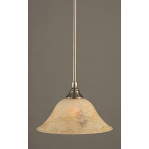 Brushed Nickel One-Light Mini Pendant with Italian Bubble Glass