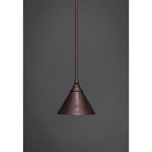 Bronze 7-Inch One Light Mini Pendant with Bronze Cone Metal Shade
