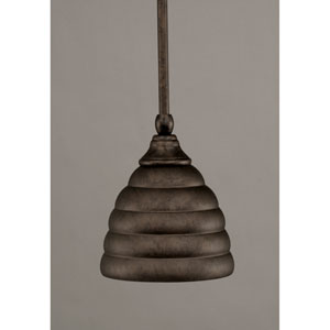 Bronze One-Light Mini Pendant with Metal Shade