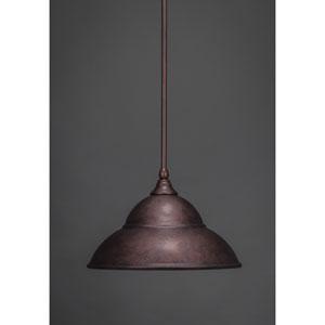 Bronze 13-Inch One Light Mini Pendant with Bronze Cone Metal Shade