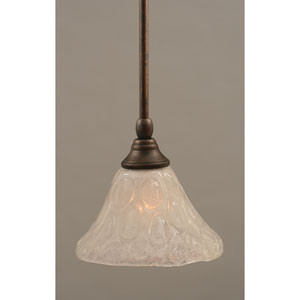 Bronze One-Light Mini Pendant with Italian Bubble Glass