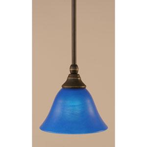Dark Granite Stem Mini Pendant with Blue Italian Glass
