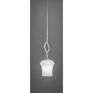 Revo Dark Granite One-Light Mini Pendant with Zilo White Linen