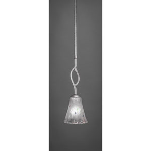 Revo Dark Granite One-Light Mini Pendant with Frosted Crystal Glass