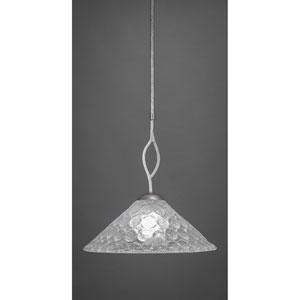 Revo Dark Granite One-Light Pendant with Italian Bubble Glass