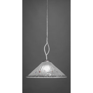 Revo Dark Granite One-Light Pendant with Frosted Crystal Glass