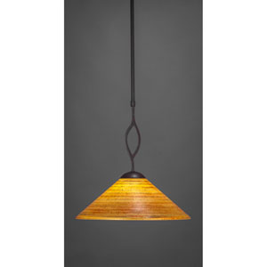 Revo Dark Granite One-Light Pendant with Firre Saturn Glass