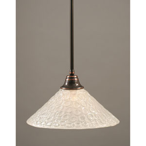 Black Copper One-Light Pendant with Italian Bubble Glass Shade