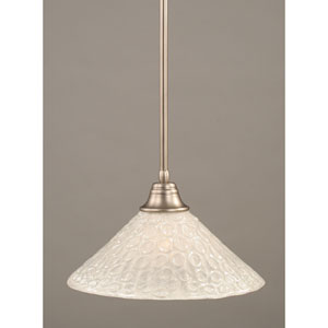 Brushed Nickel One-Light Pendant with Italian Bubble Glass Shade