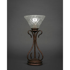 Swan Bronze One-Light Table Lamp with Italian Bubble Glass Shade