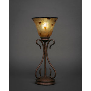 Swan Bronze One-Light Table Lamp with Penshell Shade