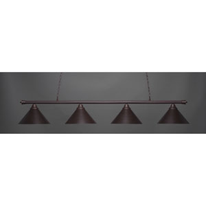 Oxford Dark Granite Four-Light Island Pendant with Metal Shade