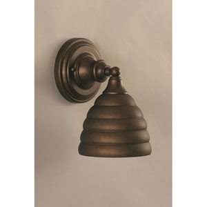 Bronze Wall Sconce with Beehive Metal shade