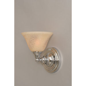 Chrome Wall Sconce with Italian Marble Glass