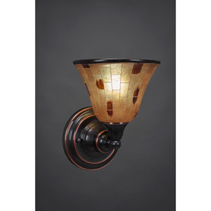 Black Copper Wall Sconce with Penshell Resin shade