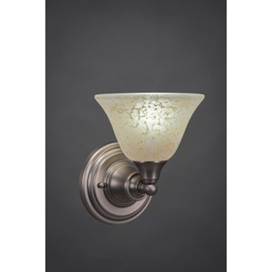 Brushed Nickel Wall Sconce with Amber Marble Glass