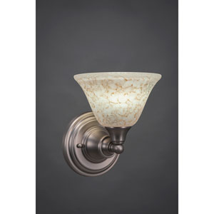 Brushed Nickel Wall Sconce with Italian Marble Glass