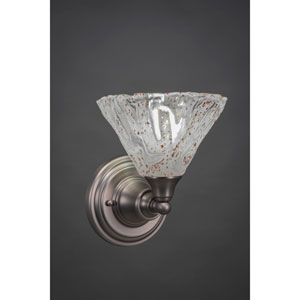 Brushed Nickel Wall Sconce with Italian Ice Glass