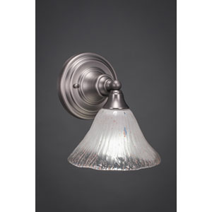 Brushed Nickel Wall Sconce with Frosted Crystal Glass