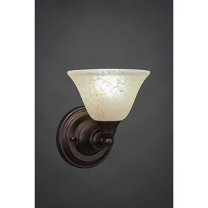 Bronze Wall Sconce with Amber Marble Glass
