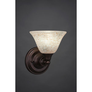 Bronze Wall Sconce with Italian Marble Glass