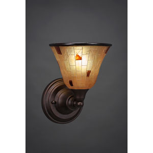 Bronze Wall Sconce with Penshell Resin shade