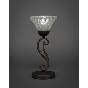 Olde Iron Bronze Mini Table Lamp with Bubble Glass