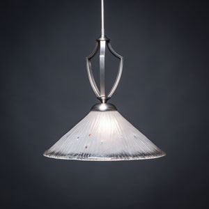 Zilo Graphite One-Light Pendant with Frosted Crystal Glass