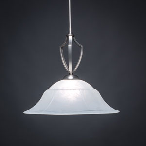 Zilo Graphite One-Light Pendant with White Marble Glass
