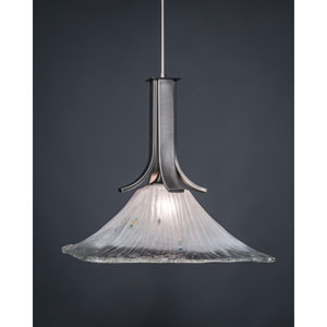 Apollo Graphite Dome Pendant with 17-Inch Square Frosted Crystal Glass