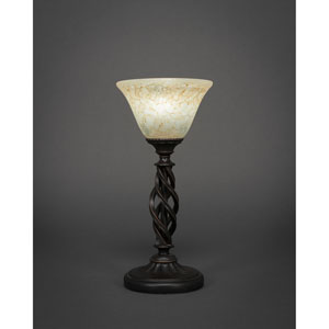 Elegante Dark Granite Mini Table Lamp with Italian Marble Glass