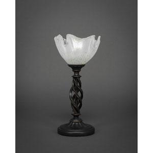 Elegante Dark Granite Mini Table Lamp with Gold Ice Glass