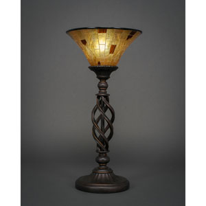 Elegante Dark Granite Table Lamp with Penshell Resin Shade