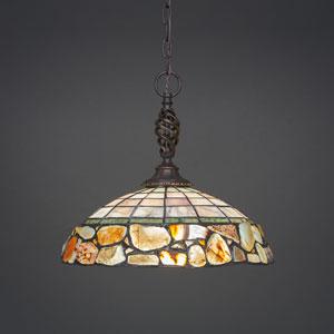 Elegante Dark Granite One-Light Pendant
