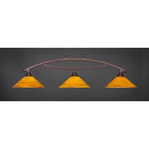 Bow Bronze Billiard Light with FirrT Saturn Glass
