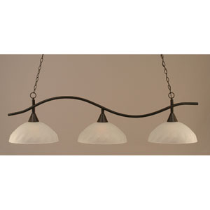 Swoop Dark Granite Billiard Light with Turtle Glass