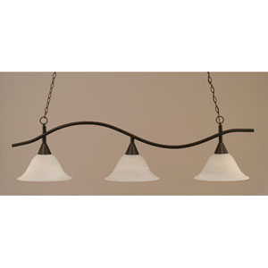 Swoop Dark Granite Billiard Light with Alabaster Glass