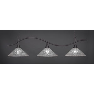 Swoop Dark Granite Billiard Light with Italian Bubble Glass
