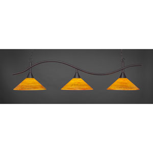 Swoop Dark Granite Billiard Light with FirrT Saturn Glass