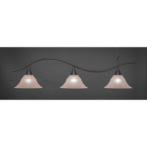 Swoop Dark Granite Billiard Light with Amber Marble Glass