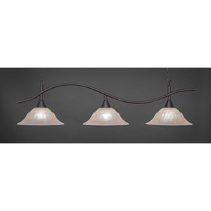 Swoop Dark Granite Billiard Light with White Marble Glass