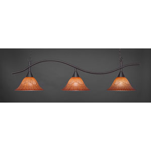 Swoop Dark Granite Billiard Light with Tiger Glass