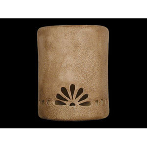 Sand Wash 9-Inch Wall Sconce with Fan and Bullets Border Design