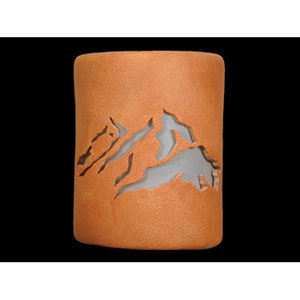 Clay Wash 9-Inch Wall Sconce with Peaks Center Cutout Design