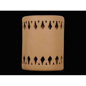 Brown 9-Inch Wall Sconce with Crown Border Cutout Design