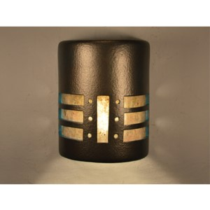 Anodized Bronze One-Light 9-Inch Tall Outdoor Wall Sconce