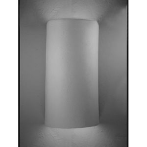 Unfinished Bisque Half Round Open Top Wall Sconce