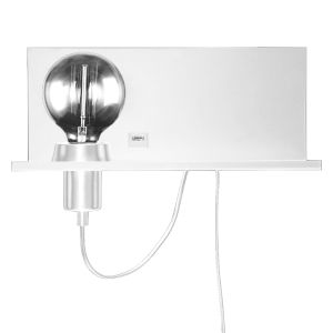 Matte White with Satin Chrome One-Light Wall Sconce